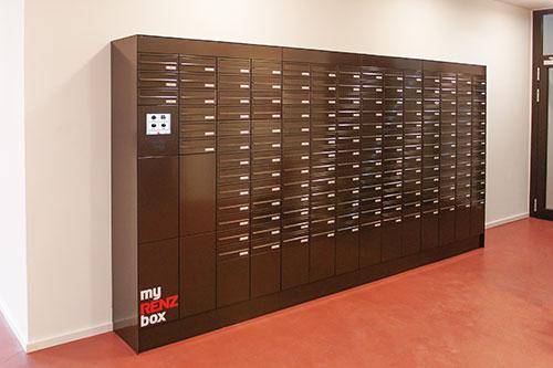 Briefkastenanlage für Mehrfamilienhaus mit 200 Wohneinheiten