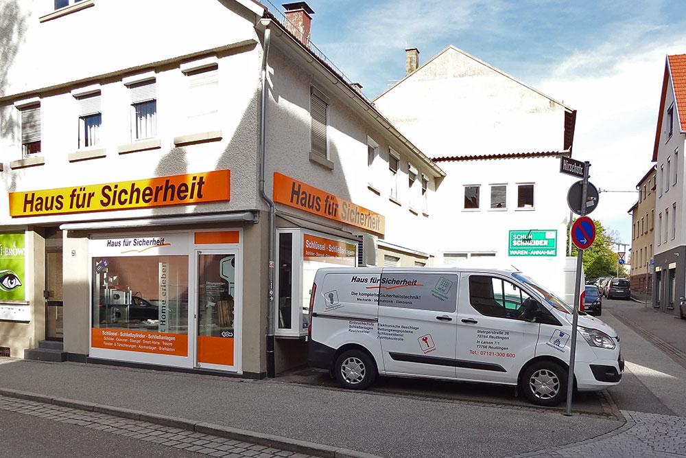 Geschäft für Sicherheitstechnik in Reutlingen